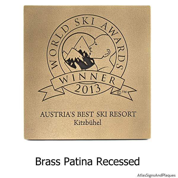 Award Plaque - Brass Recessed