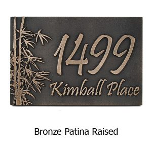Bamboo Address Plaque - Bronze