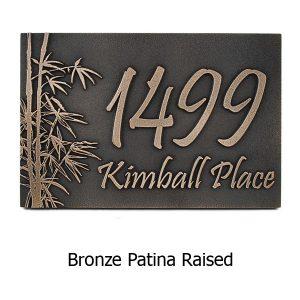 Bamboo Address Plaque - Bronze