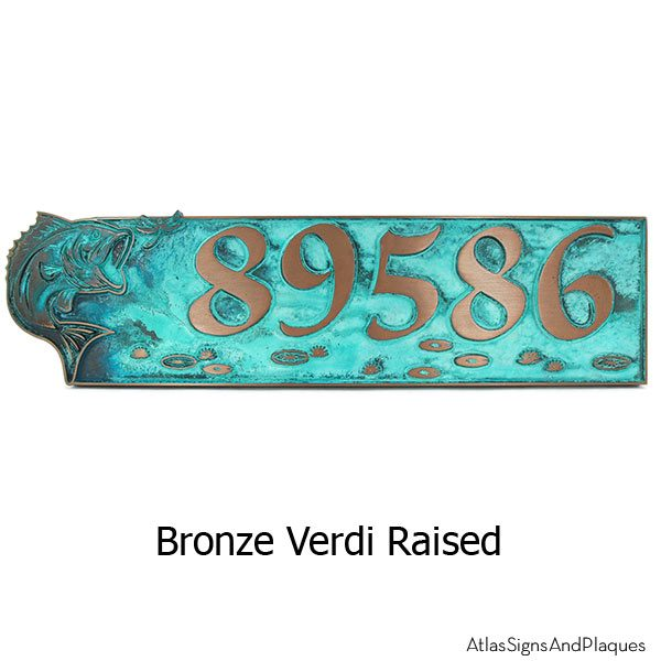 Bass Address Plaque - Bronze Verdi