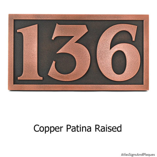 Benguiat Address Numbers - Copper