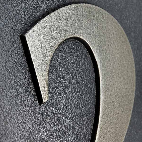 Benguiat Address Numbers - Silver Nickel Detail