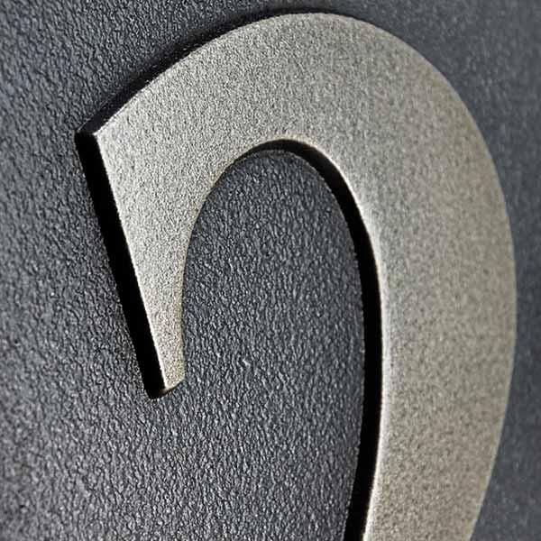 Benguiat Address Numbers - Silver Nickel Detail