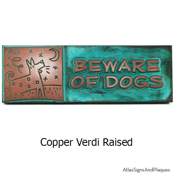 Beware of Bowser Sign - Copper Verdi