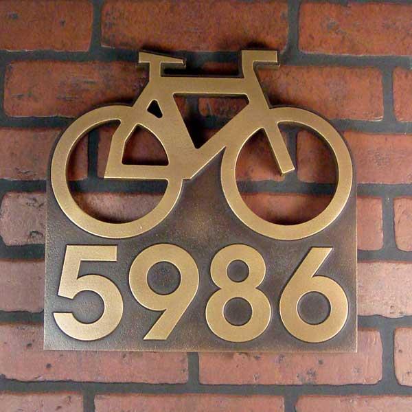 Bike Address Plaque - Brass