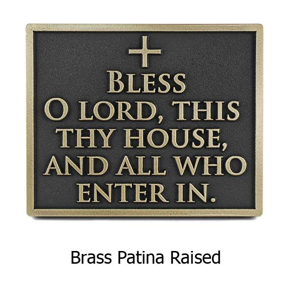 Blessing Welcome Plaque - Brass