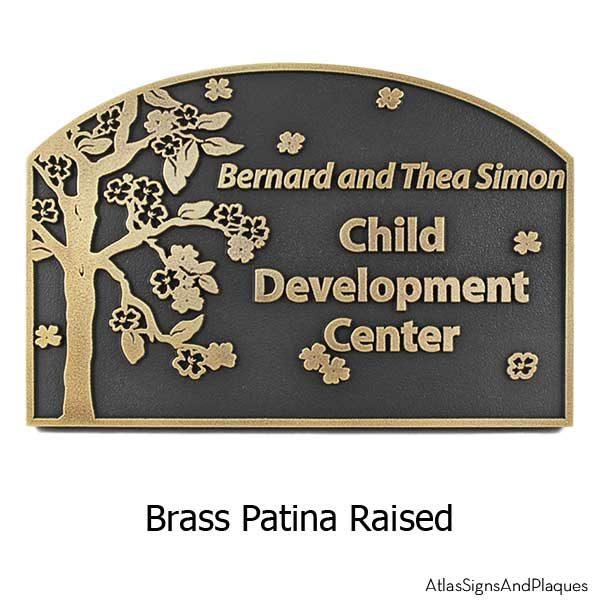 Blossom Tree Plaque - Brass