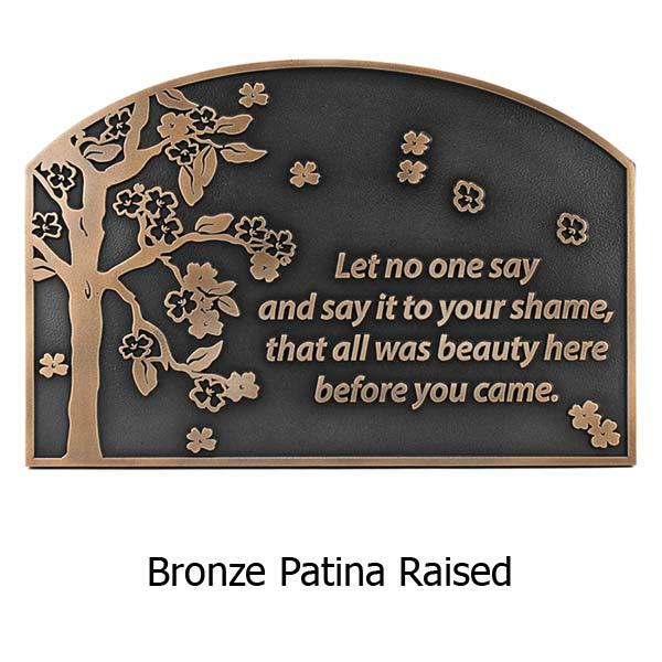 Blossom Tree Plaque - Bronze
