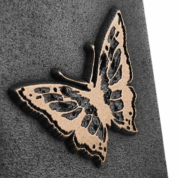 Butterfly Address Plaque - Bronze Detail