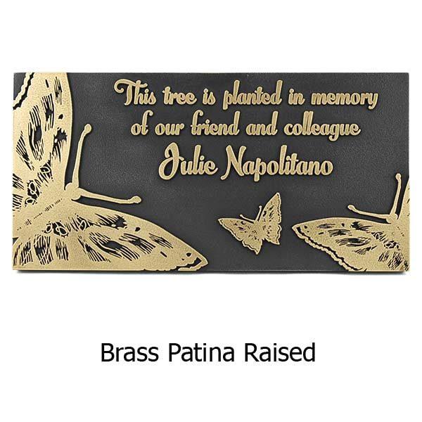 Butterfly Memorial Plaque - Brass