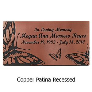 Butterfly Memorial Plaque - Copper