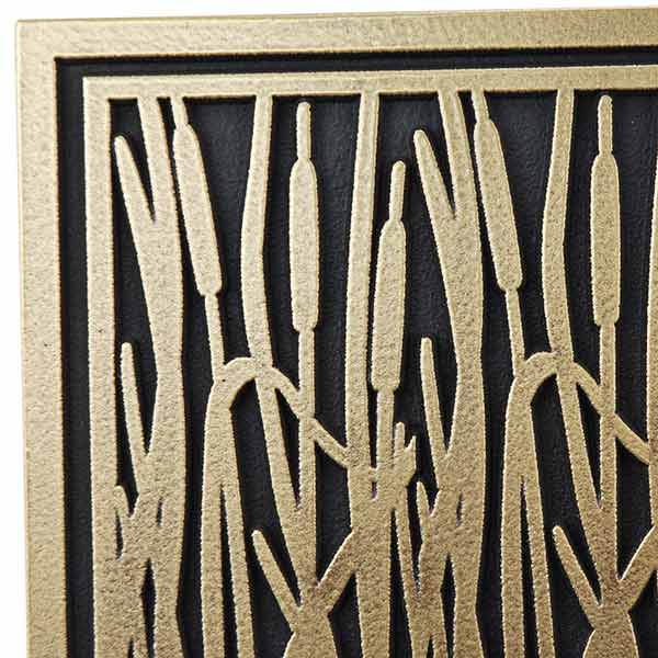 Cattail Craftsman House Numbers - Brass Detail
