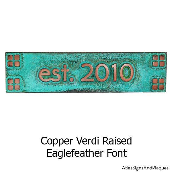Craftsman Mini - Copper Verdi Eaglefeather Font