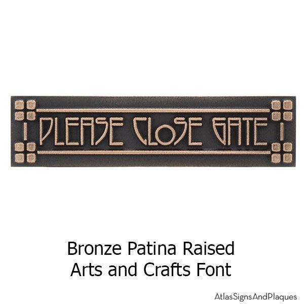 Craftsman Mini - Bronze Arts and Crafts Font