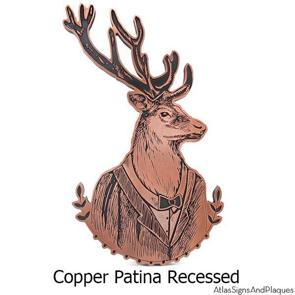 Distinguished Deer Plaque - Copper