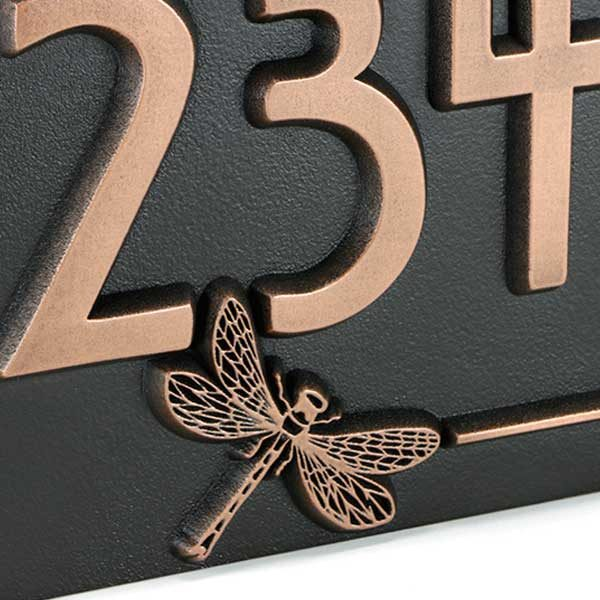 Dragonfly House Number Plaque