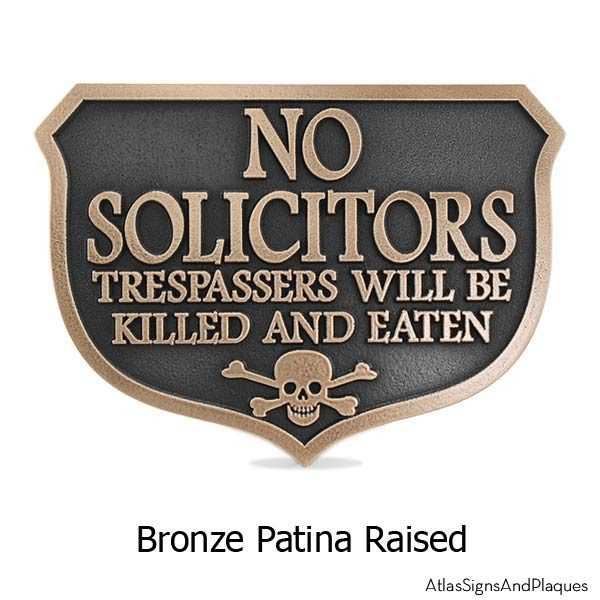 Eating Solicitors Sign Shield - Bronze