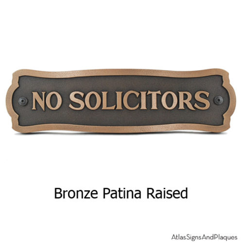 Fancy Frame Privacy Sign - Bronze Shown with Optional T30 Screws