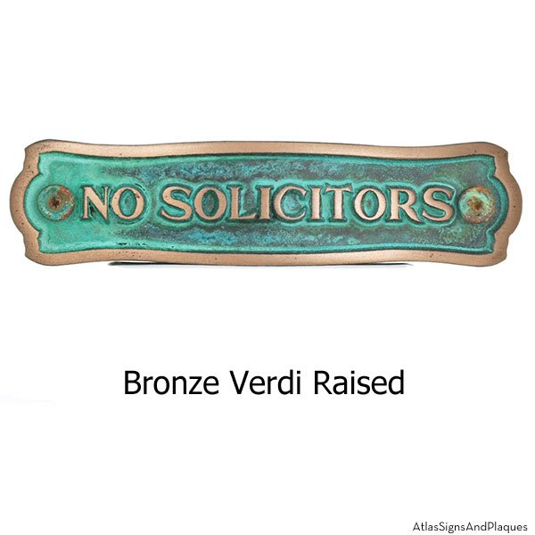 Fancy Frame Privacy Sign - Bronze Verdi Shown with Optional T30 Screws
