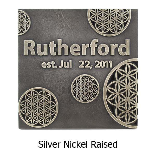 Flower of Life Wedding Plaque - Silver Nickel