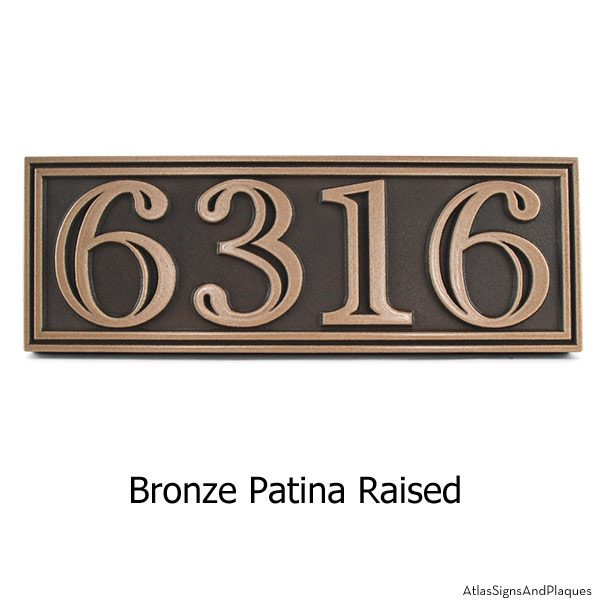 Hesperis Address Plaque - Bronze