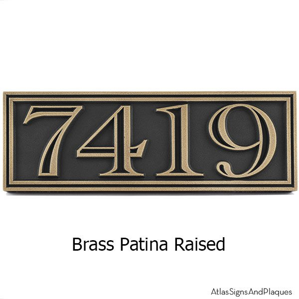 Hesperis Address Plaque - Brass