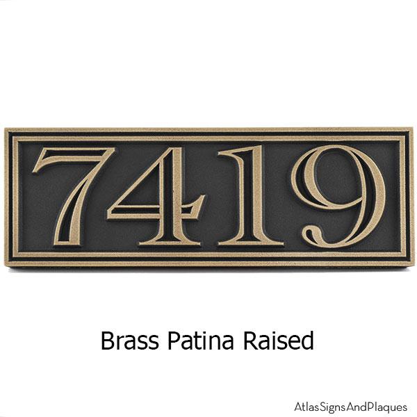 Hesperis Address Plaque - Brass
