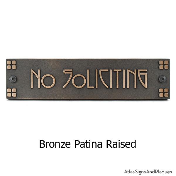 Horizontal American Craftsman Historic Plaque Bronze