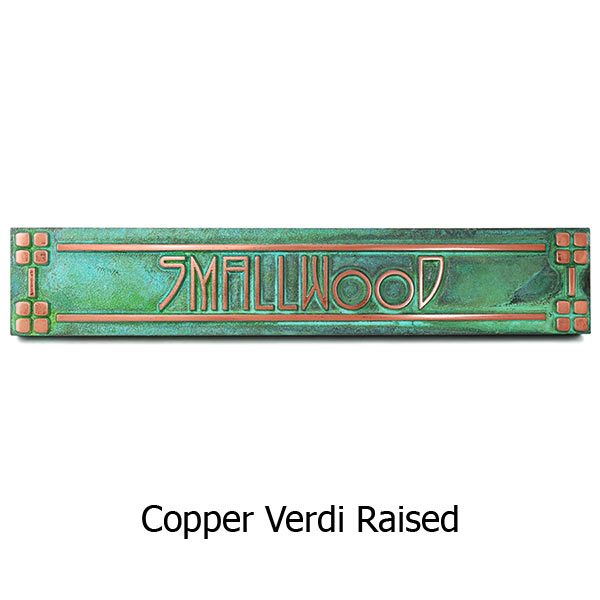 Horizontal American Craftsman Historic Plaque - Copper Verdi