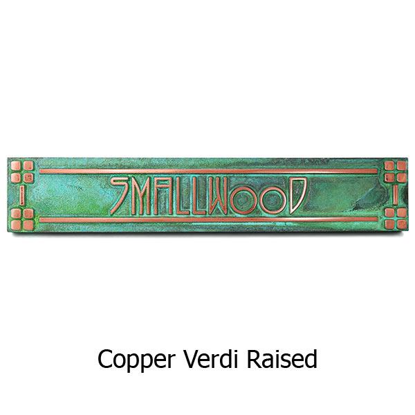 Horizontal American Craftsman Historic Plaque - Copper Verdi