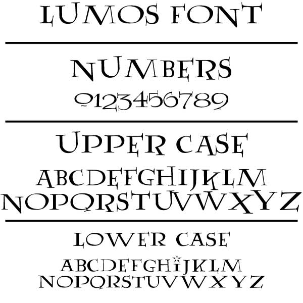 Harry Potter Book Font : Lumos address plaque atlas signs and plaques