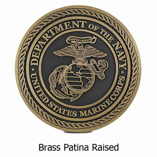 US Marine Corps Plaque - Brass