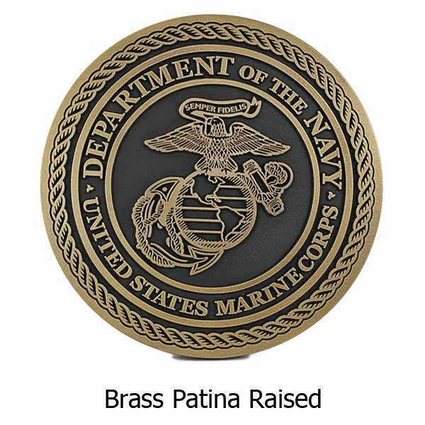 US Marine Corps Plaque - Brass