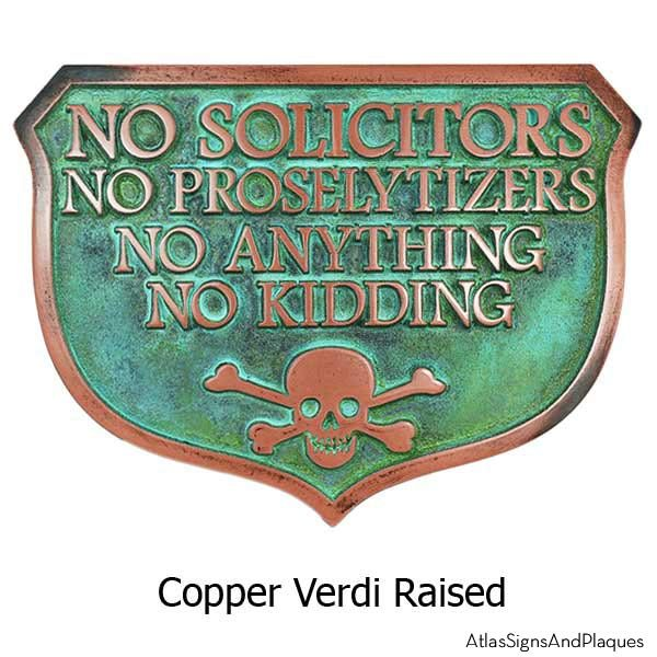 No Kidding Solicitors - Copper Verdi