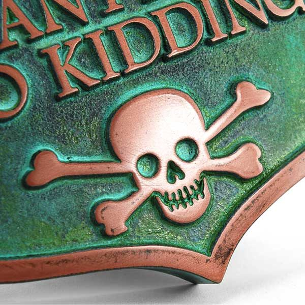 No Kidding Solicitors - Copper Verdi Detail