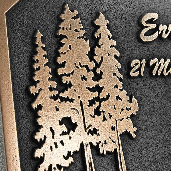 Pine Tree Memorial - Bronze Detail