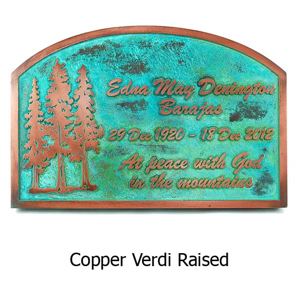 Pine Tree Memorial - Copper Verdi