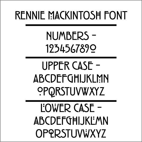 Rennie Mackintosh Font