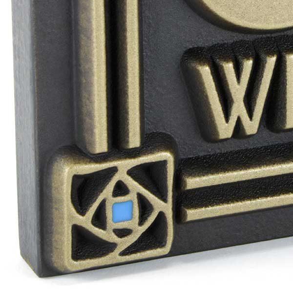 Rennie Rose Craftsman Plaque - Brass