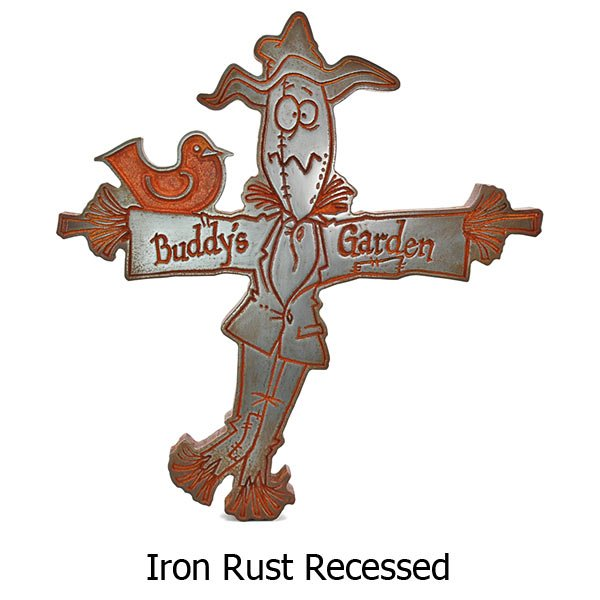 Garden Scarecrow - Iron Rust
