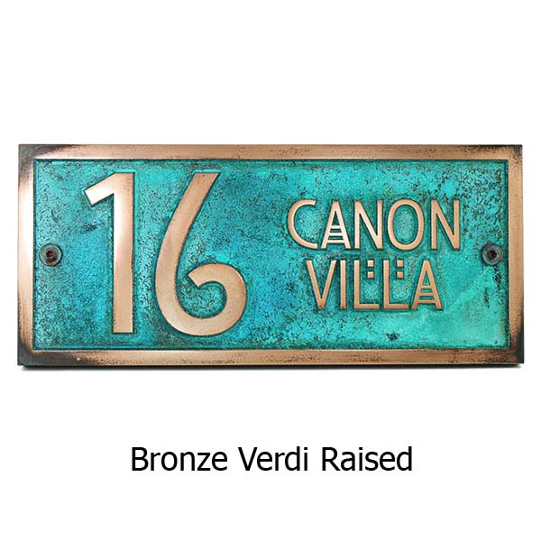 Stickley 2 Digit Address - Bronze Verdi Shown with Optional T30 Screws