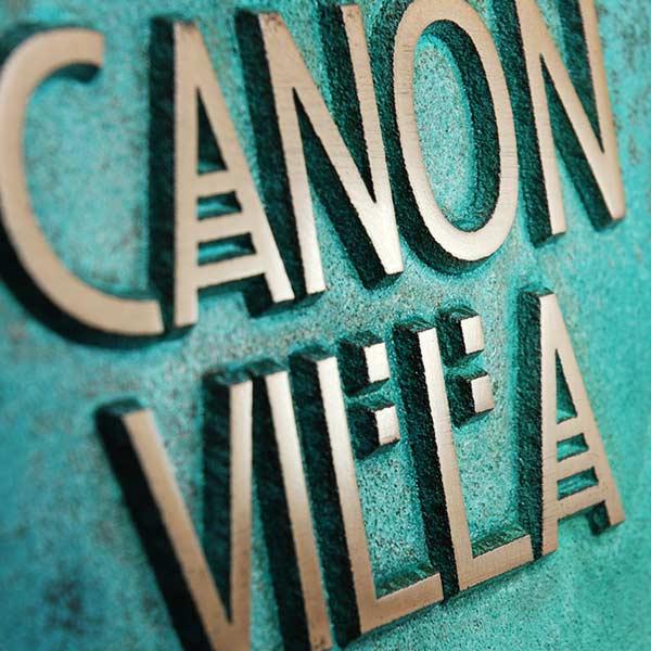 Stickley 2 Digit Address - Bronze Verdi Detail