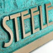Stickley Address Plaque - Bronze Verdi Detail