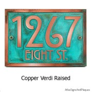 Stickley Address Plaque - Copper Verdi Shown with Optional T30 Screws
