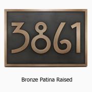 Stickley Address Plaque - Bronze