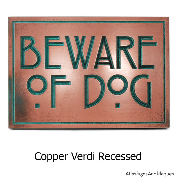 Stickley Phrase Plaque - Copper Verdi