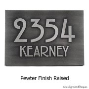 Stickley Address Plaque - Pewter