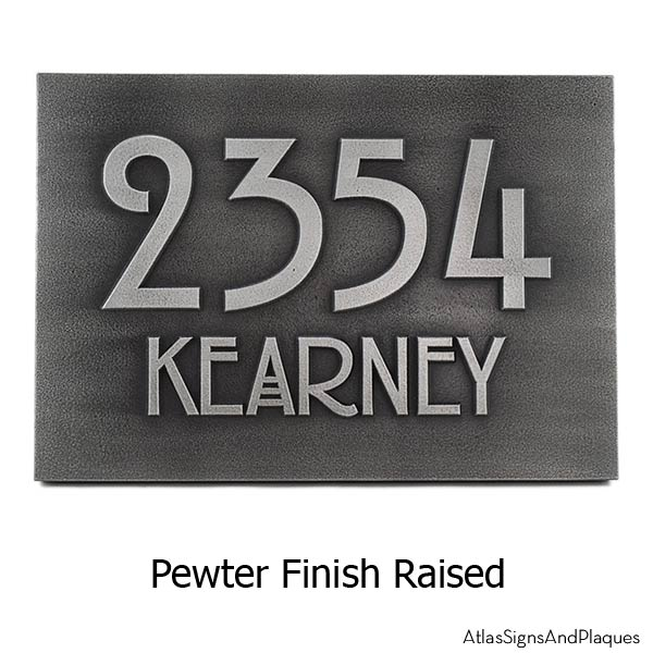 Stickley Address Plaque - Pewter