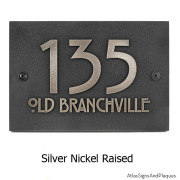 Stickley Address Plaque - Silver Nickel Shown with Optional T30 Screws