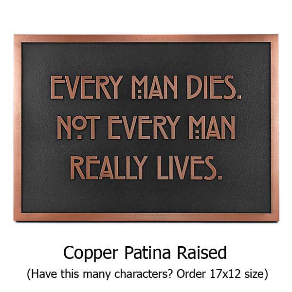 Stickley Phrase Plaque - Copper